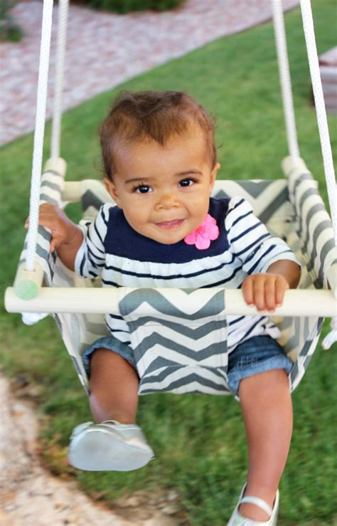 canvas baby swing new design printed canvas baby swing hanging chair with