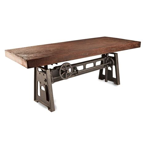 rustic industrial desk gerrit industrial style rustic pine iron dining table
