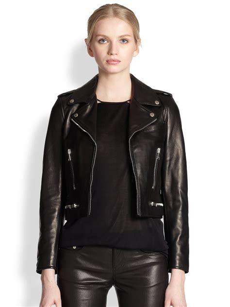 Susan Biker Leather Jacket laurent leather biker jacket in black lyst