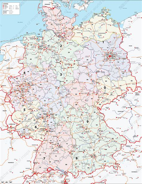 zip code map germany digital zip code map germany 282 the world of maps com