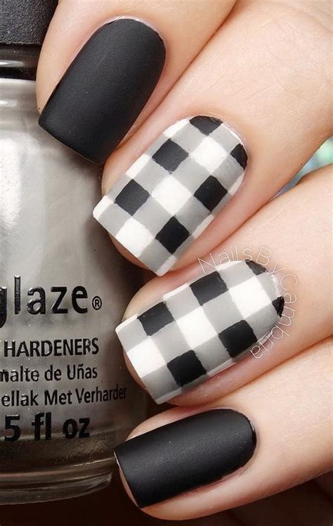 plaid pattern nails 60 pretty matte nail designs plaid nails plaid and black