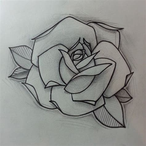 traditional style rose tattoo design traditional best designs