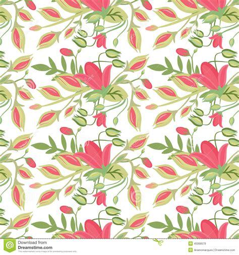 pattern elegant illustrator elegant seamless pattern with flowers stock vector image