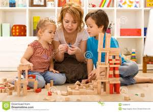 Kid Activities Family Activities In The Room Royalty Free Stock
