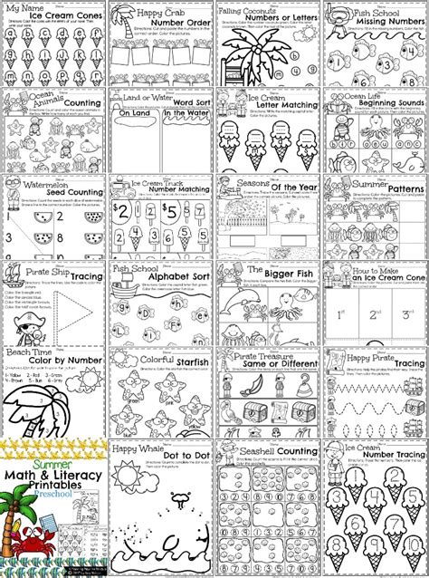 Summer Alphabet Worksheets Lessons For Summer Preschool Worksheets Planning Playtime