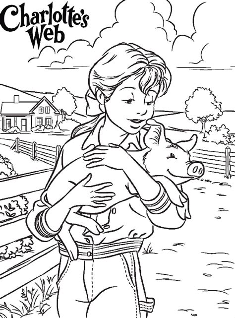 s web coloring pages charlottes web coloring pages coloring home