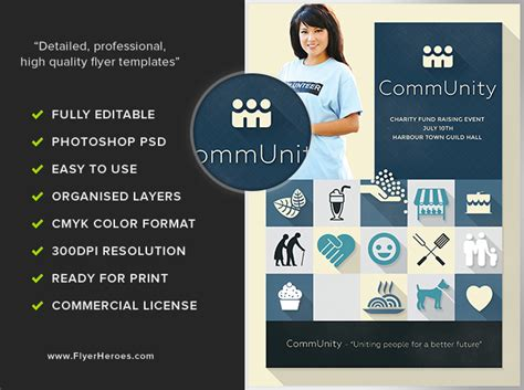 Community Flyer Template Flyerheroes Community Flyer Template