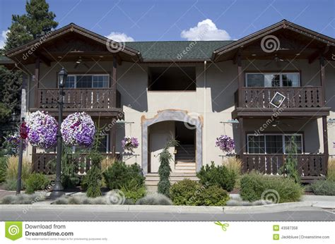 rent home in usa german house leavenworth stock photo image of town