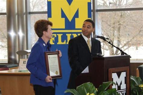 Um Flint Receives U S by Um Flint Receives National Recognition For Community