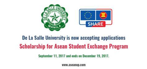 De La Salle Mba Scholarship by De La Salle Asean Scholarships Opportunities