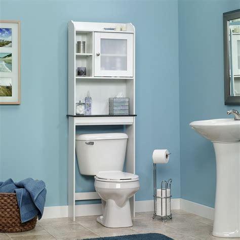 toilet storage bathroom caddy shelf etagere cabinet space saving white bath accessory