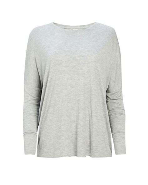 bench synonyms long sleeve top in grey lyst
