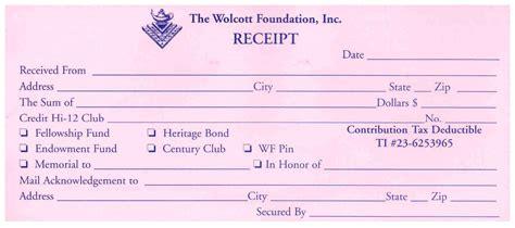 Food Donation Receipt Template by Donation Receipt Book Receipt Template