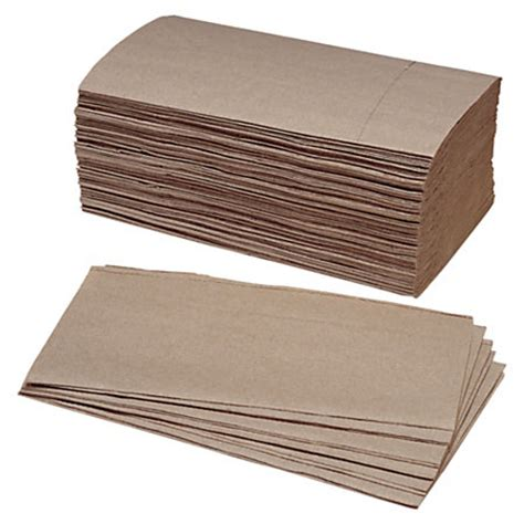 Single Fold Paper Towels - skilcraft single fold paper towels 9 14 x 5 38 kraft pack