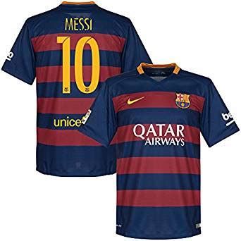 Jersey Sepakbola Barcelona L 10 Messi barcelona home messi jersey 2015 2016 official printing clothing