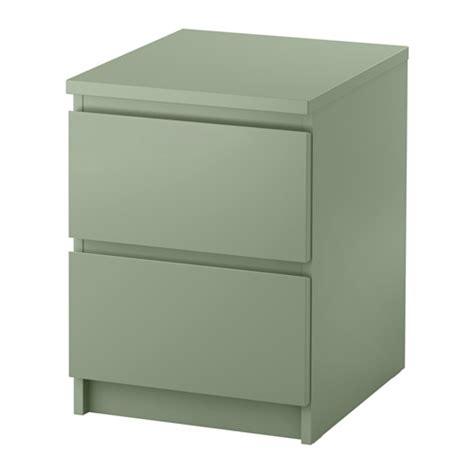 MALM Kommode med 2 skuffer   lys grønn   IKEA