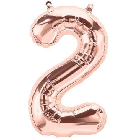 33cm Balon Huruf Pink gold number 2 foil balloon 33cm 13inch partyrama