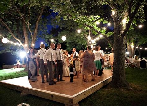 backyard wedding dance floor 1000 ideas about outdoor dance floors on pinterest