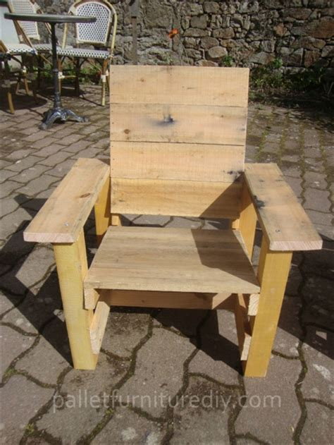 pallet armchair for pallet furniture plans