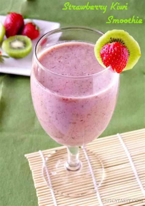 Strawberry Kiwi Detox Smoothie by Strawberry Kiwi Smoothie Gluten And Dairy Free Spicy Tasty