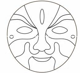 Masks Template free coloring pages of tiger mask template