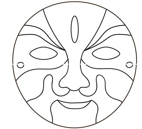 mask template free coloring pages of tiger mask template