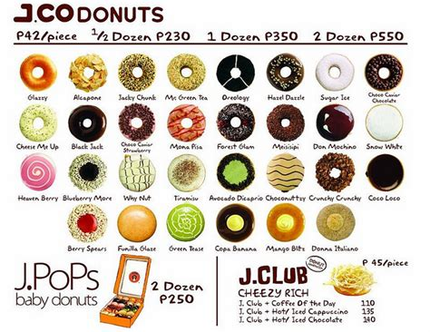 Menu Jco Coffee the list j co donuts and coffee leftoverjinx