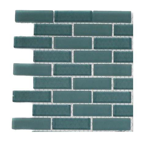 1 x 3 turquoise floor tile splashback tile contempo turquoise brick pattern glass