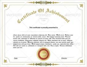 free achievement certificate templates 31 fabulous achievement certificate templates designs