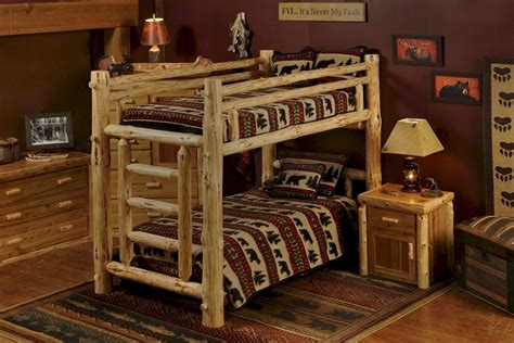 Pine Log Bunk Beds Pine Log Bunk Bed For Adults And Children
