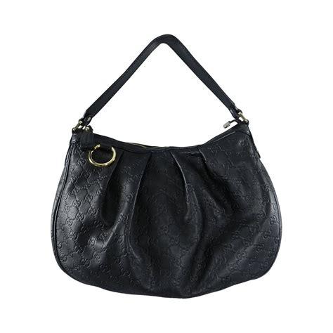 leather hobo purse gucci guccissima sukey black leather hobo bag purse at 1stdibs