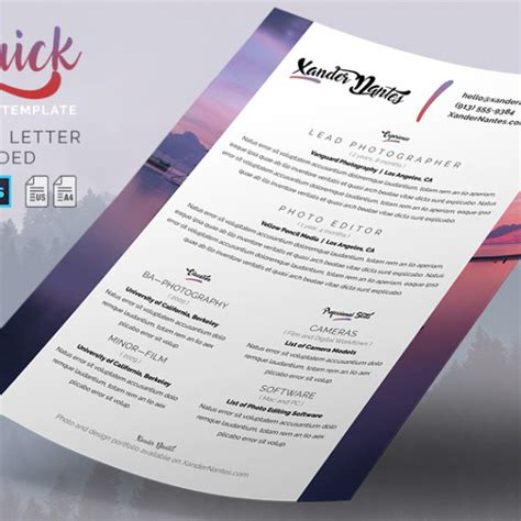 Cursive Q Resume by Resumes Business Card Infographics Print Templates