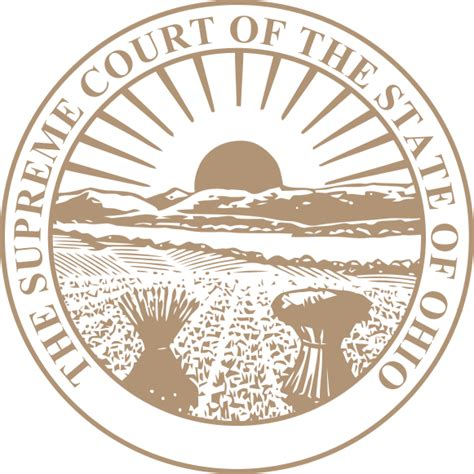 Ohio Court Search File Seal Of The Supreme Court Of Ohio Svg