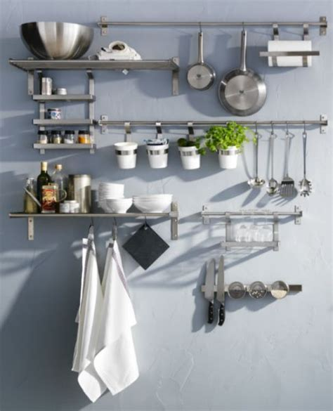 ikea kitchen organization ideas best 25 stainless steel shelving ideas on
