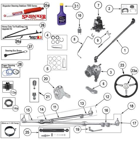 interactive diagram wrangler yj steering parts jeep yj