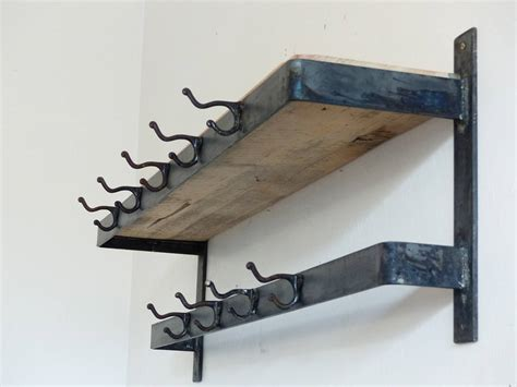Mounted Coat Rack by Industrial Wall Mount Coat Rack At 1stdibs