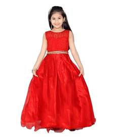 k amp u red color party wear gown for kids buy k amp u red color