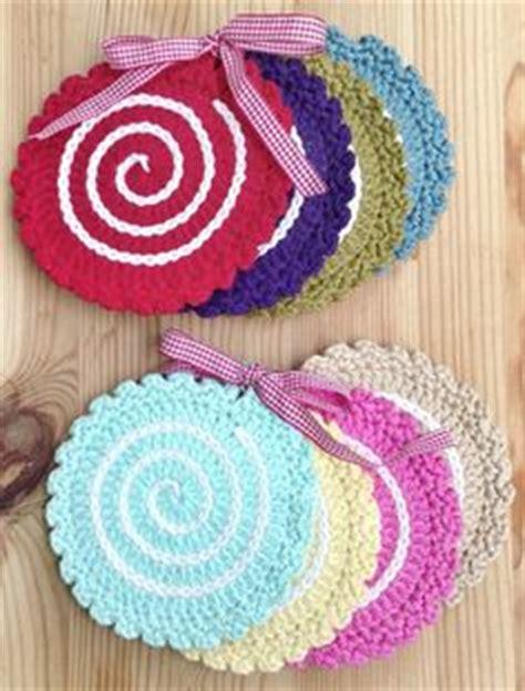 crochet potholders coasters  dishclothes