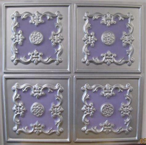 cheap ceiling tiles 2x2 cheap decorative faux tin plastic 130 silver violet pvc