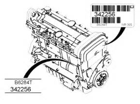 i can not find the engine nomber on my volvo s60 t 2 4