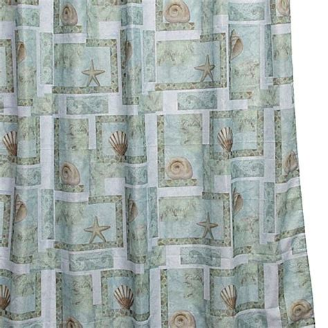 jc penny shower curtains spa shells shower curtain jcpenney shell14 pinterest