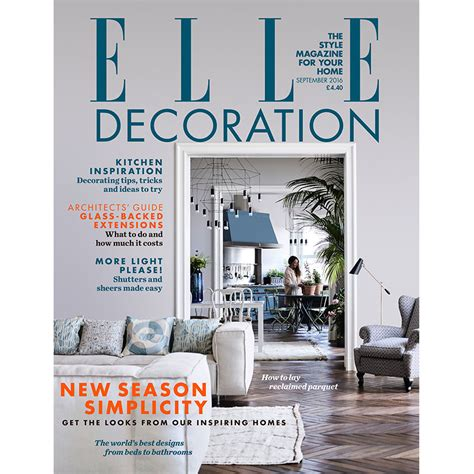 home decorating magazines uk september 2016 elle decoration uk