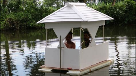 boat house making boat house making by smart village boys on swimming pool
