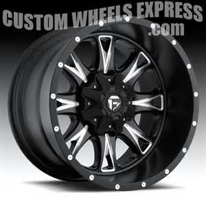 Truck Wheels 20x12 Fuel Throttle D513 Matte Black Milled Truck Wheels Rims