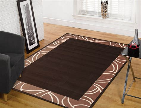 rugs 190 x 280 190x280cm modern rugs floor area rug brown border free shipping 1349s22 ebay