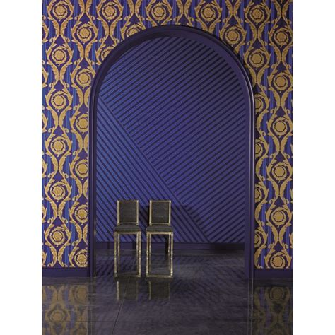 royal blue  gold wallpaper wallpapersafari