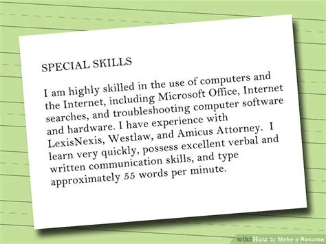 How To Make A Resume For A by 7 Ways To Make A Resume Wikihow