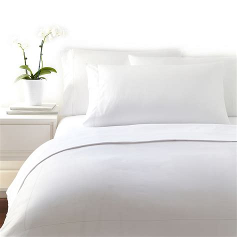 white bed sheets frette essentials single ajour bedding white bloomingdale s