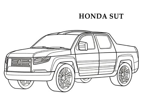coloring pages honda cars honda sut cars coloring pages kids coloring pages free