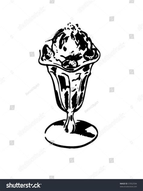 zbrush sketchbook ice cream sundae by evanstanley on ice cream sundae retro clip art stock vector